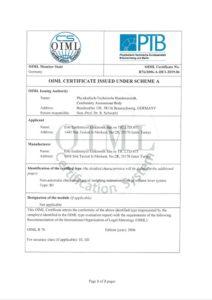 B3 OIML Sertifikası